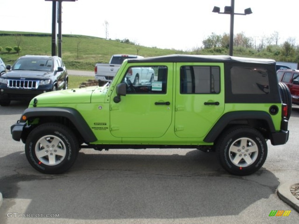 Gecko Green 2012 Jeep Wrangler Unlimited Sport S 4x4 Exterior Photo 64244573