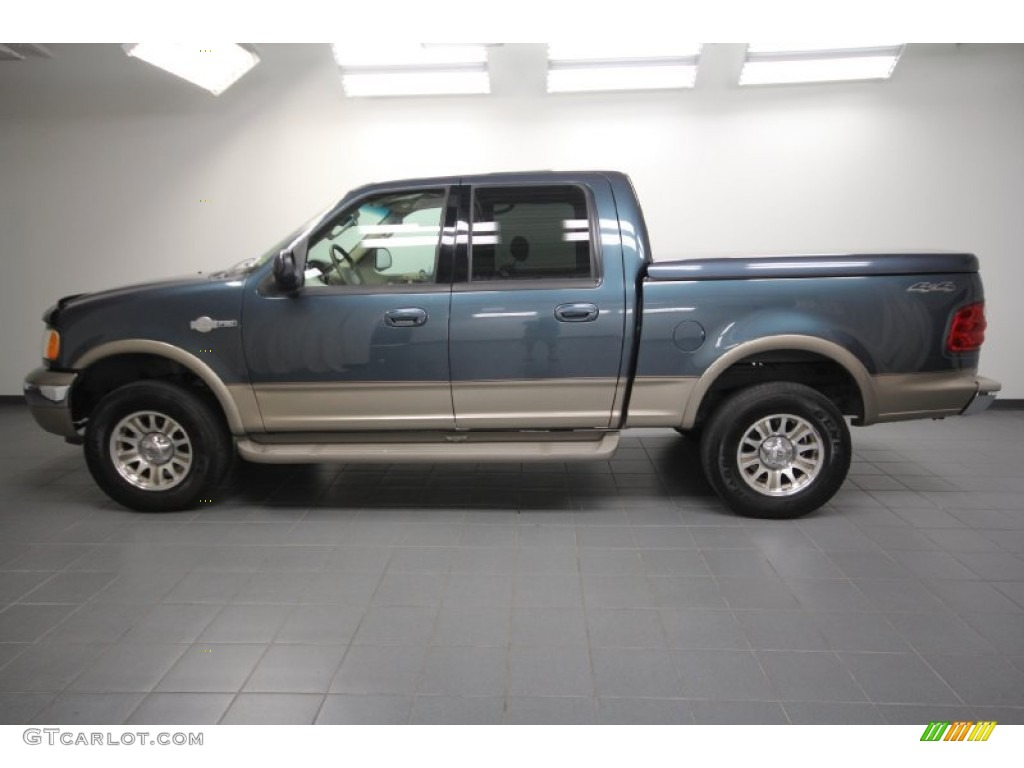 charcoal blue metallic 2002 ford f150 king ranch supercrew 4x4 exterior photo 64249022. Black Bedroom Furniture Sets. Home Design Ideas