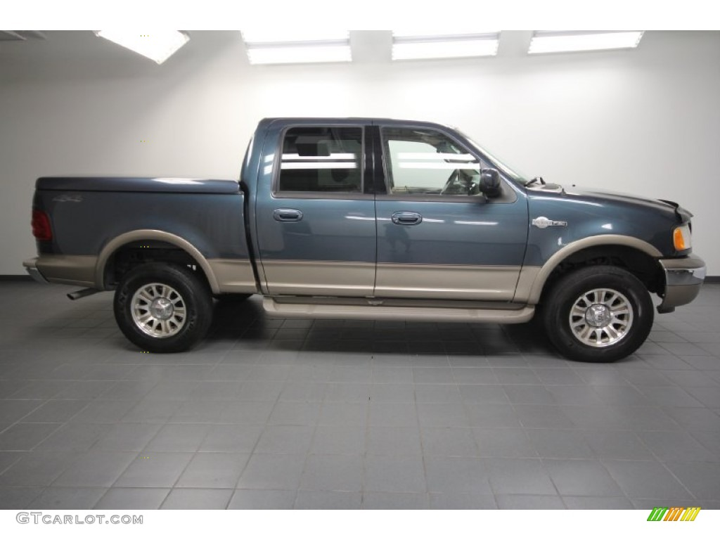2002 charcoal blue metallic ford f150 king ranch supercrew 4x4 64228714 photo 7. Black Bedroom Furniture Sets. Home Design Ideas