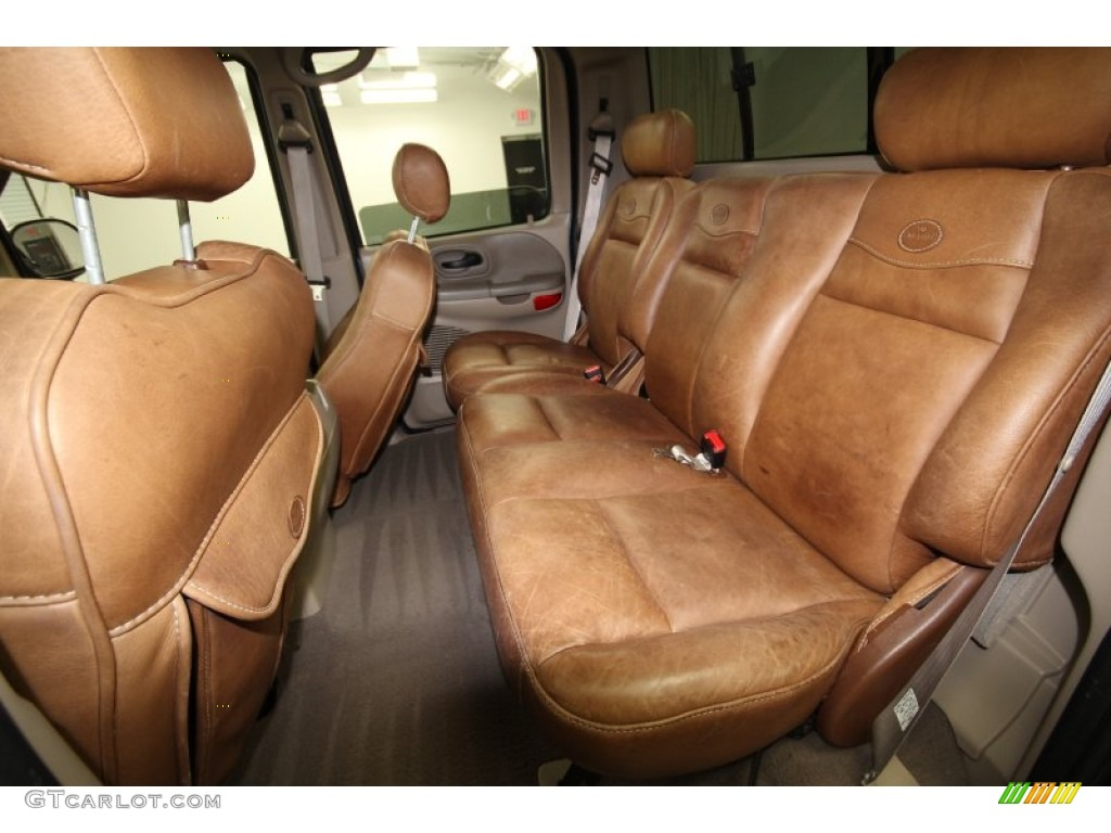 Castano Brown Leather Interior 2002 Ford F150 King Ranch ...