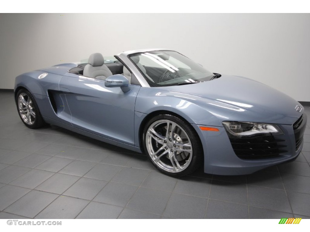 2017 R8 Spyder 4 2 Fsi Quattro Jet Blue Metallic Anium Grey Na Leather Photo