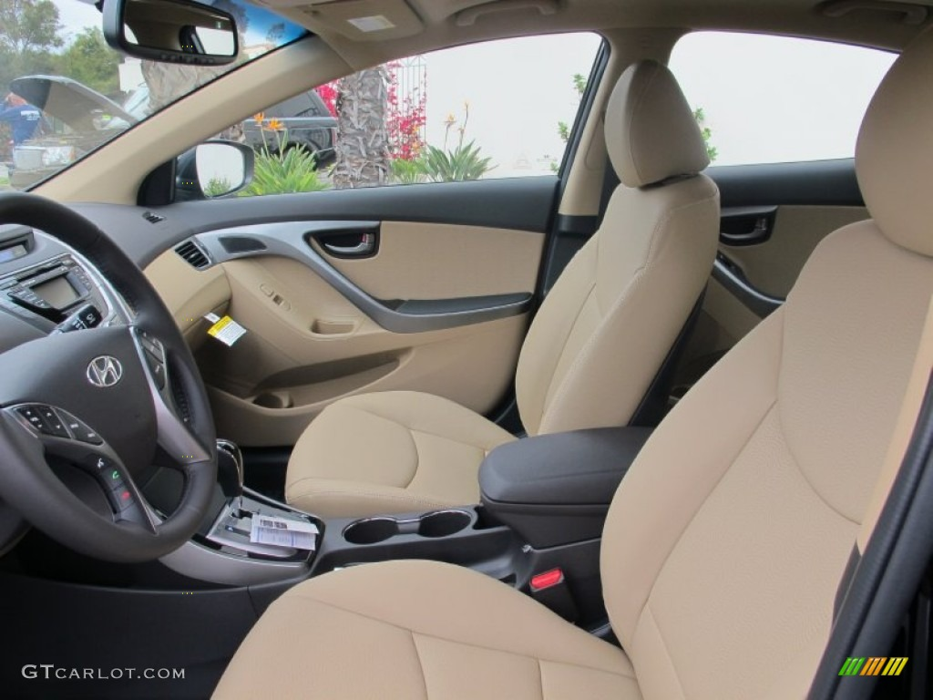 Beige Interior 2013 Hyundai Elantra Limited Photo