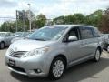 2012 Silver Sky Metallic Toyota Sienna XLE AWD  photo #3