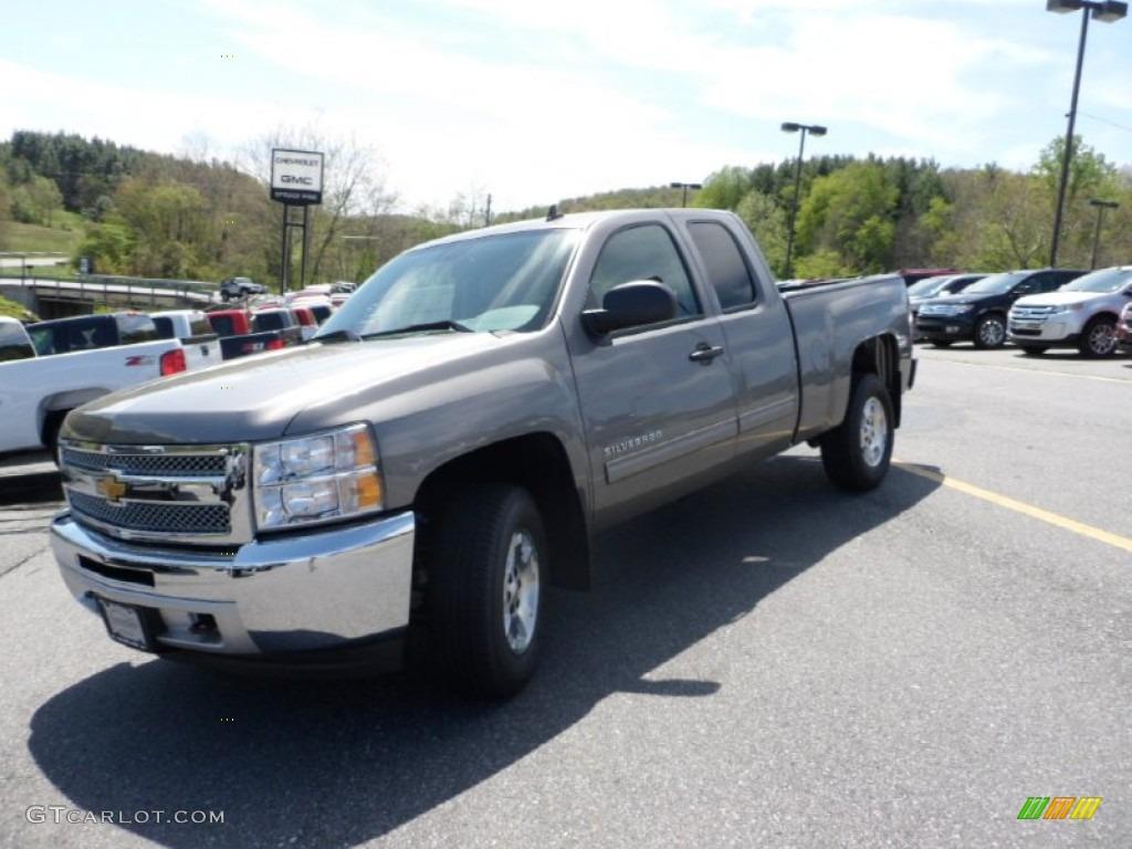 2012 Silverado 1500 LT Extended Cab 4x4 - Graystone Metallic / Light Titanium/Dark Titanium photo #1