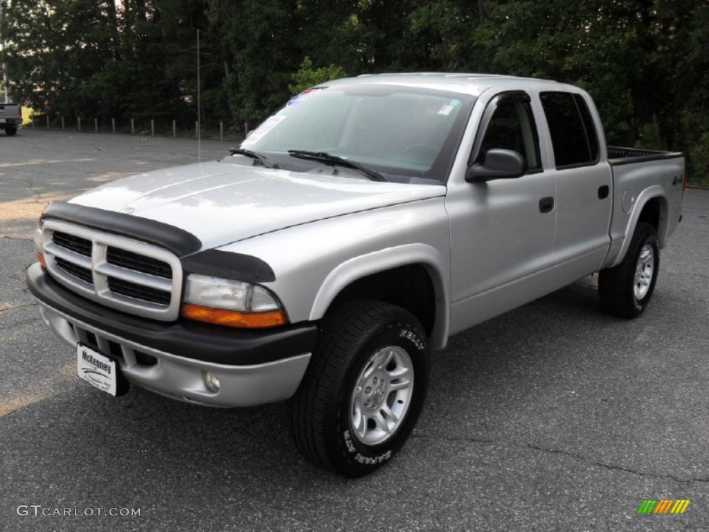 2003 bright silver metallic dodge dakota sxt quad cab 4x4 64228851 gtcarlot com car color
