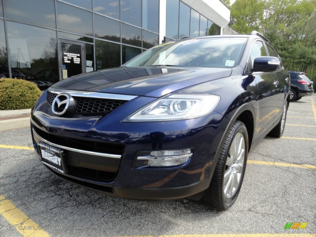 2009 stormy blue mica mazda cx 9 grand touring awd. Black Bedroom Furniture Sets. Home Design Ideas
