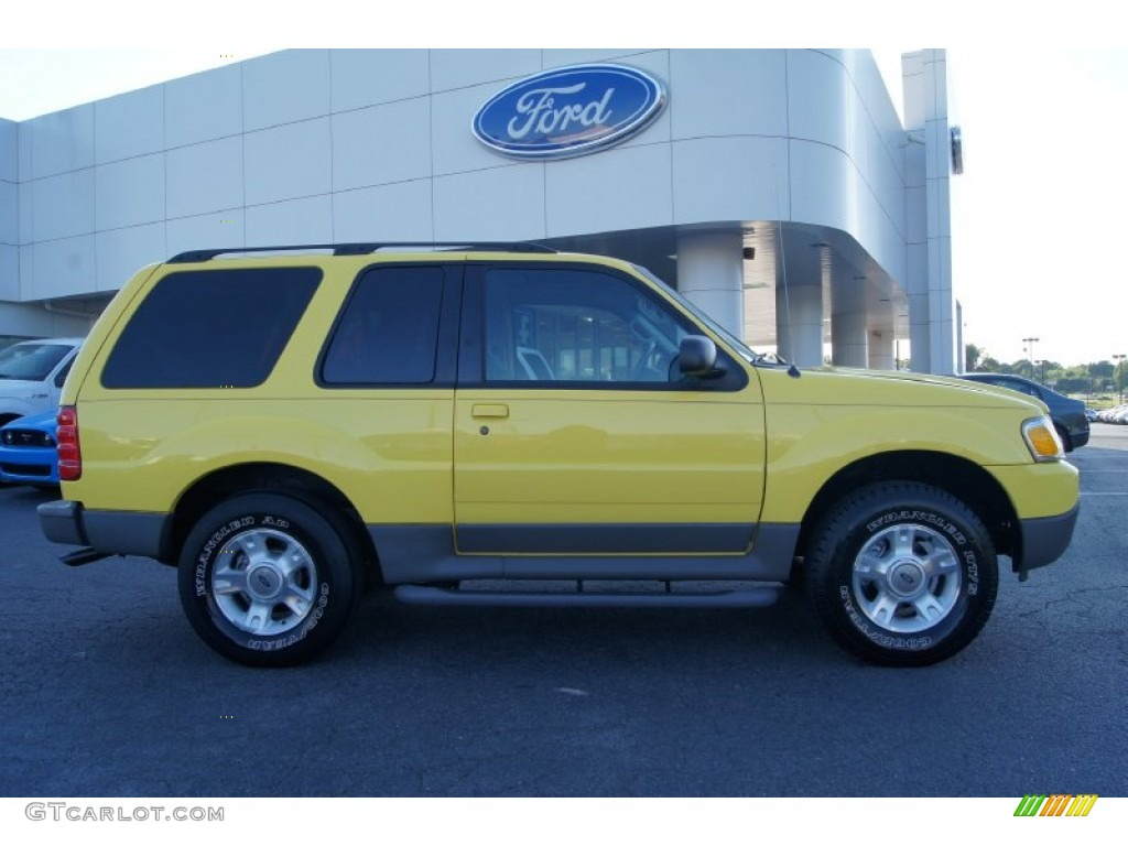 2003 Explorer Sport XLT 4x4 - Zinc Yellow / Midnight Gray photo #1