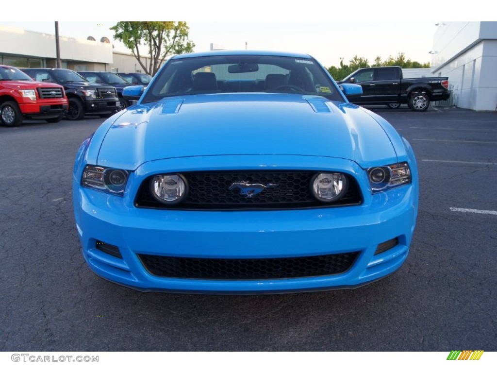 Grabber blue 2013 ford mustang gt premium coupe exterior photo 64297585