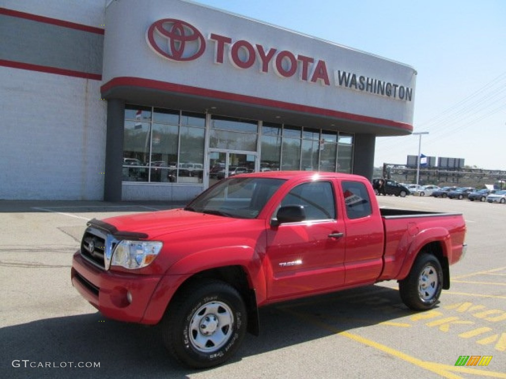 2005 radiant red toyota tacoma v6 access cab 4x4 64288870. Black Bedroom Furniture Sets. Home Design Ideas