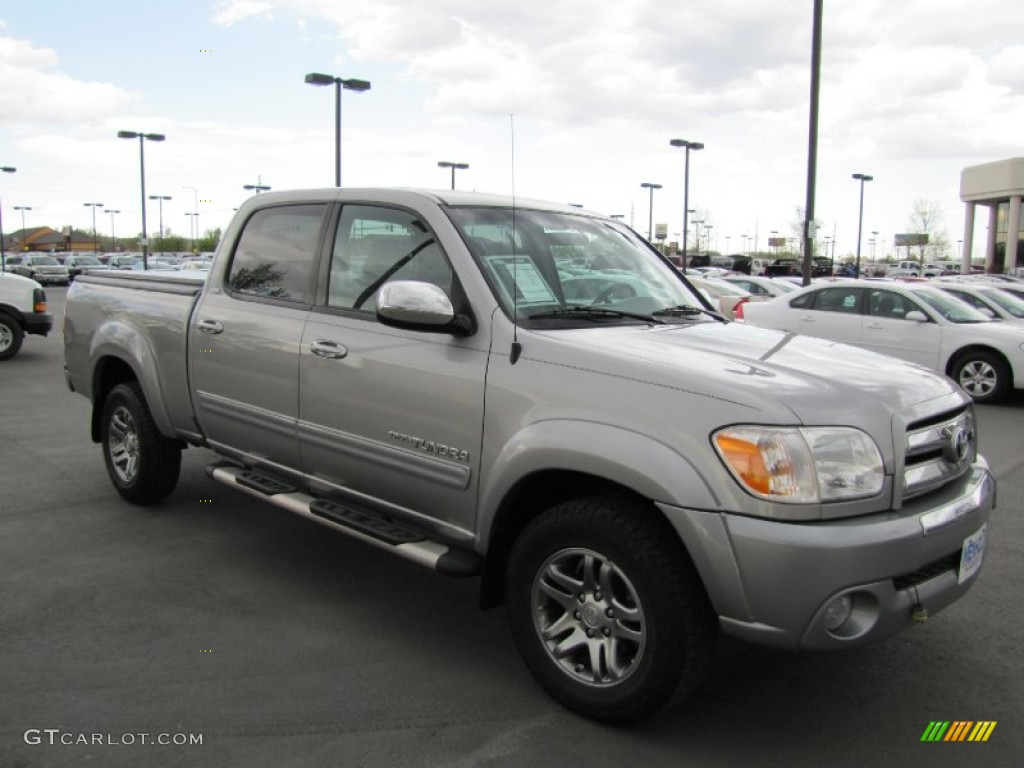 2005 Tundra SR5 Double Cab 4x4 - Silver Sky Metallic / Light Charcoal photo #1