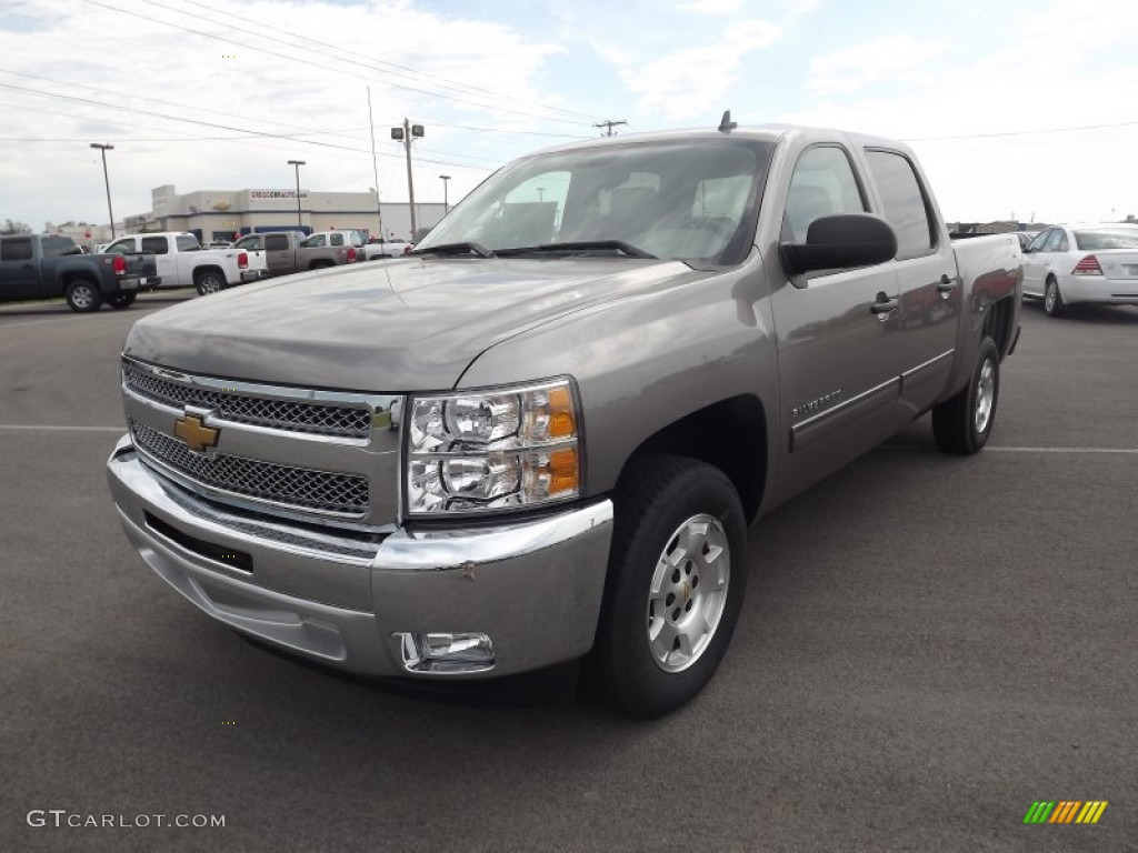 2012 Silverado 1500 LT Crew Cab - Graystone Metallic / Light Titanium/Dark Titanium photo #1