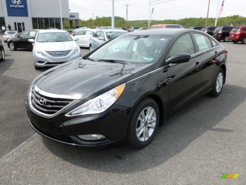 midnight black 2013 hyundai sonata gls exterior photo. Black Bedroom Furniture Sets. Home Design Ideas