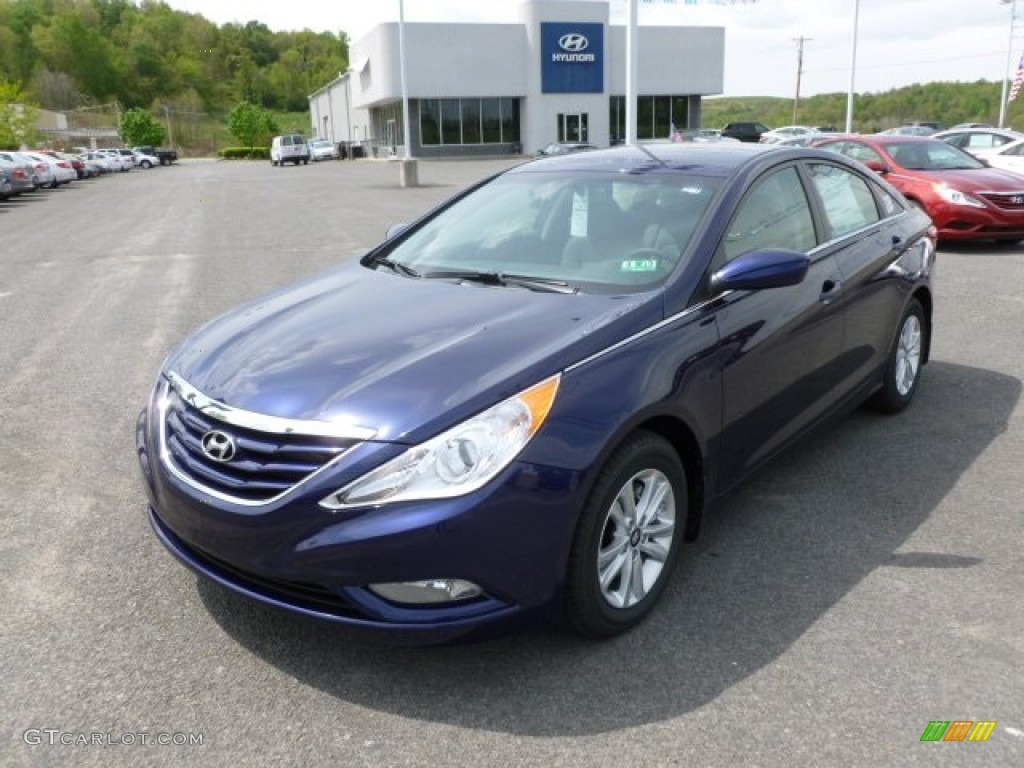indigo night blue 2013 hyundai sonata gls exterior photo. Black Bedroom Furniture Sets. Home Design Ideas