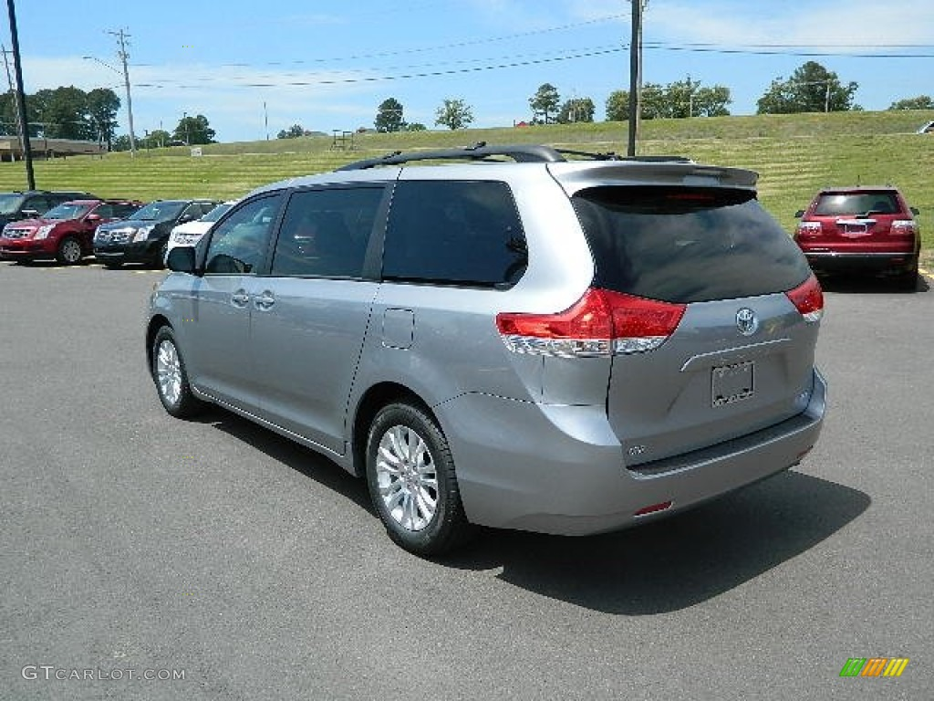 2012 Sienna XLE - Silver Sky Metallic / Light Gray photo #5