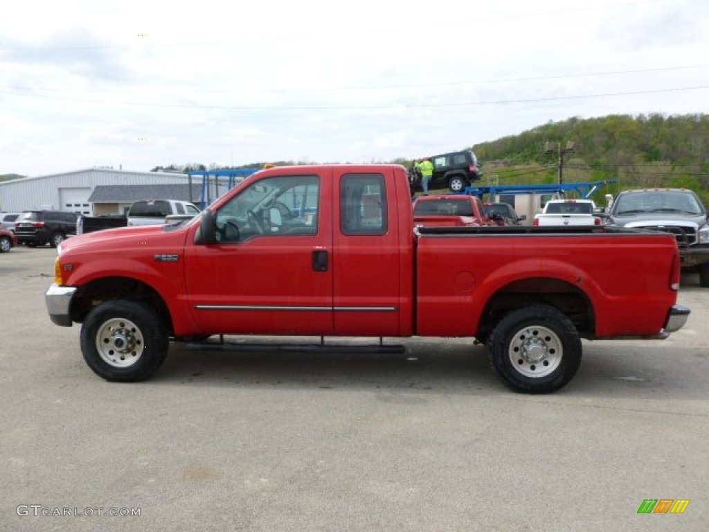 2000 f250 super duty xlt extended cab 4x4 red medium graphite photo 1