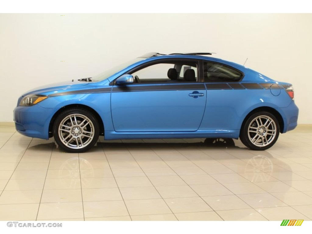 speedway blue metallic 2010 scion tc release series 6 0. Black Bedroom Furniture Sets. Home Design Ideas