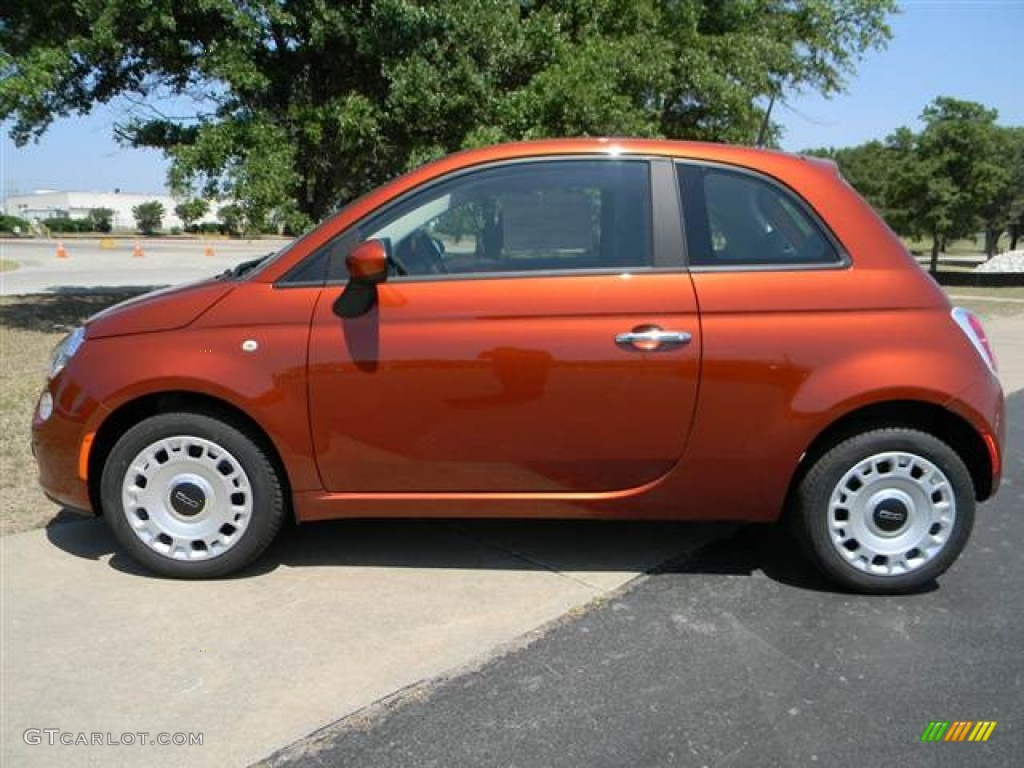 Rame Copper Orange 2012 Fiat 500 Pop Exterior Photo