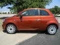 Rame (Copper Orange) 2012 Fiat 500 Pop Exterior