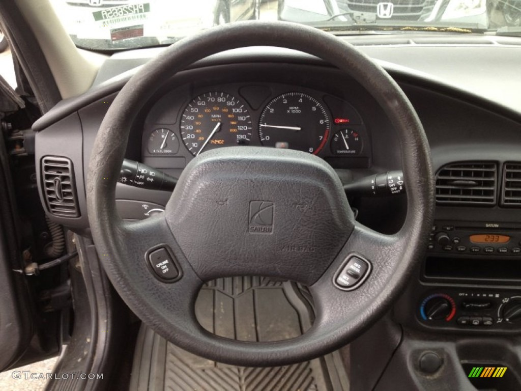 2002 saturn s series sl2 sedan black steering wheel photo 64370068