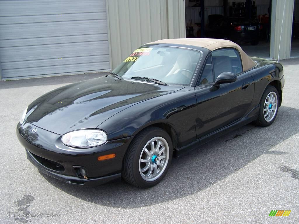 2000 Brilliant Black Metallic Mazda Mx 5 Miata Ls Roadster 6413222