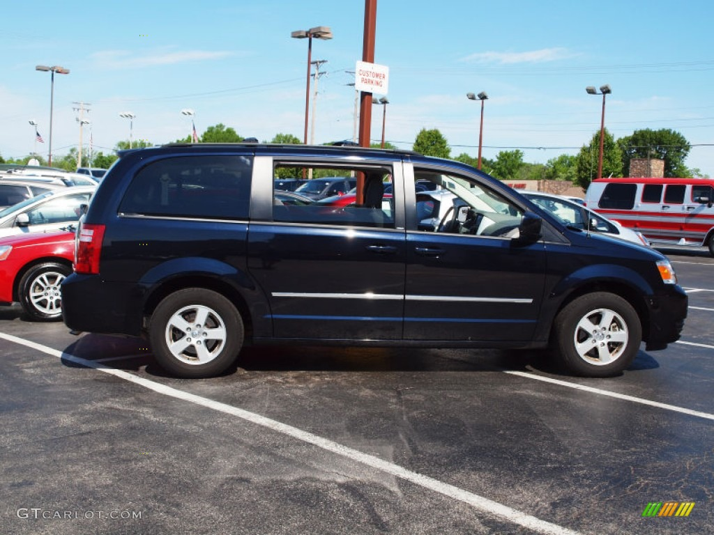 2010 grand caravan sxt blackberry metallic medium slate gray light shale photo
