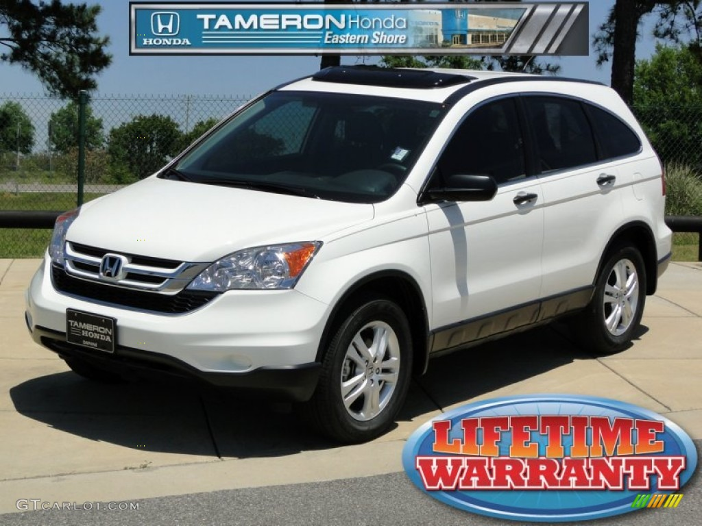 2010 CR-V EX - Taffeta White / Gray photo #1