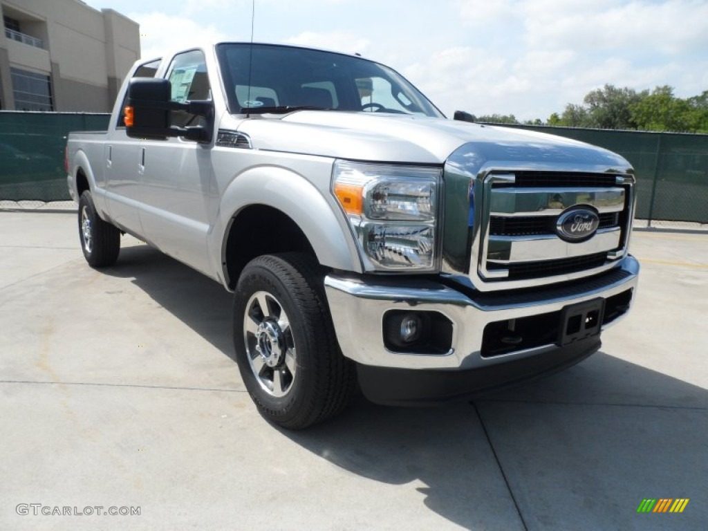 2012 ingot silver metallic ford f250 super duty lariat crew cab 4x4 64352903. Black Bedroom Furniture Sets. Home Design Ideas