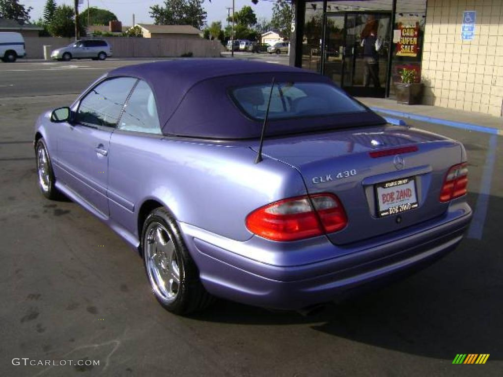 2000 azure blue metallic mercedes benz clk 430 cabriolet. Black Bedroom Furniture Sets. Home Design Ideas