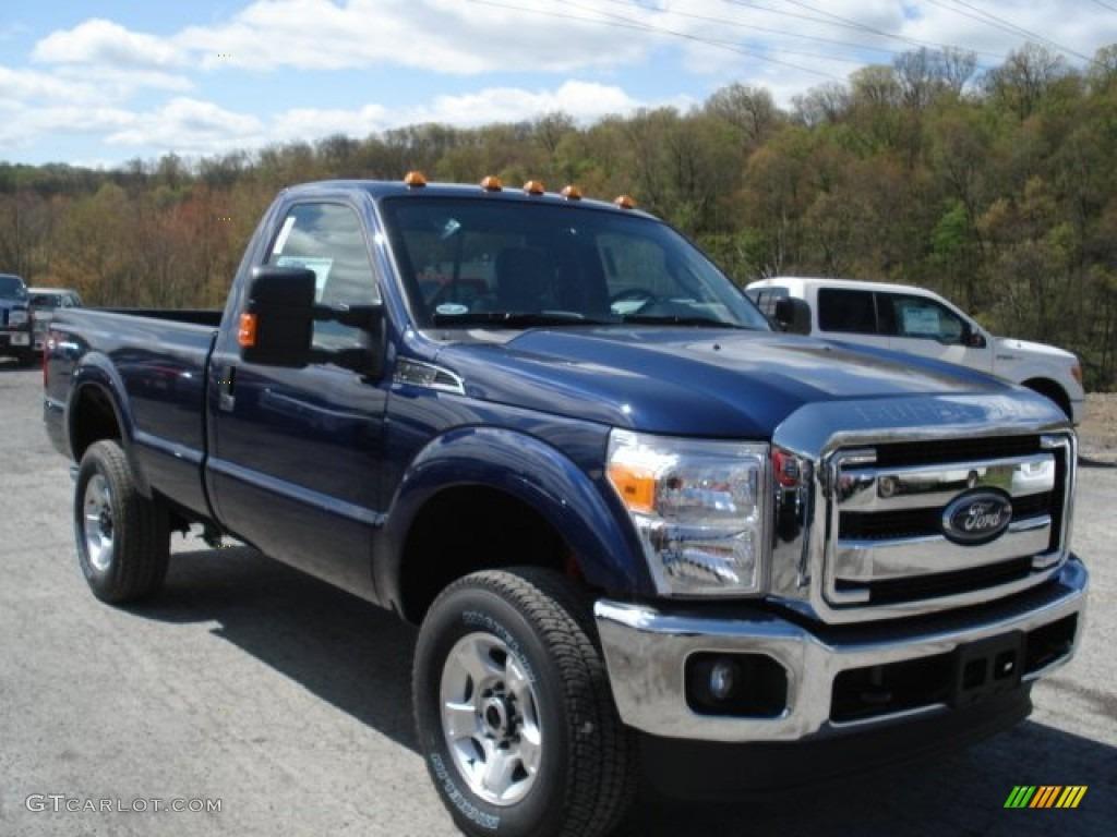 2012 f350 super duty xlt regular cab 4x4 dark blue pearl metallic steel photo