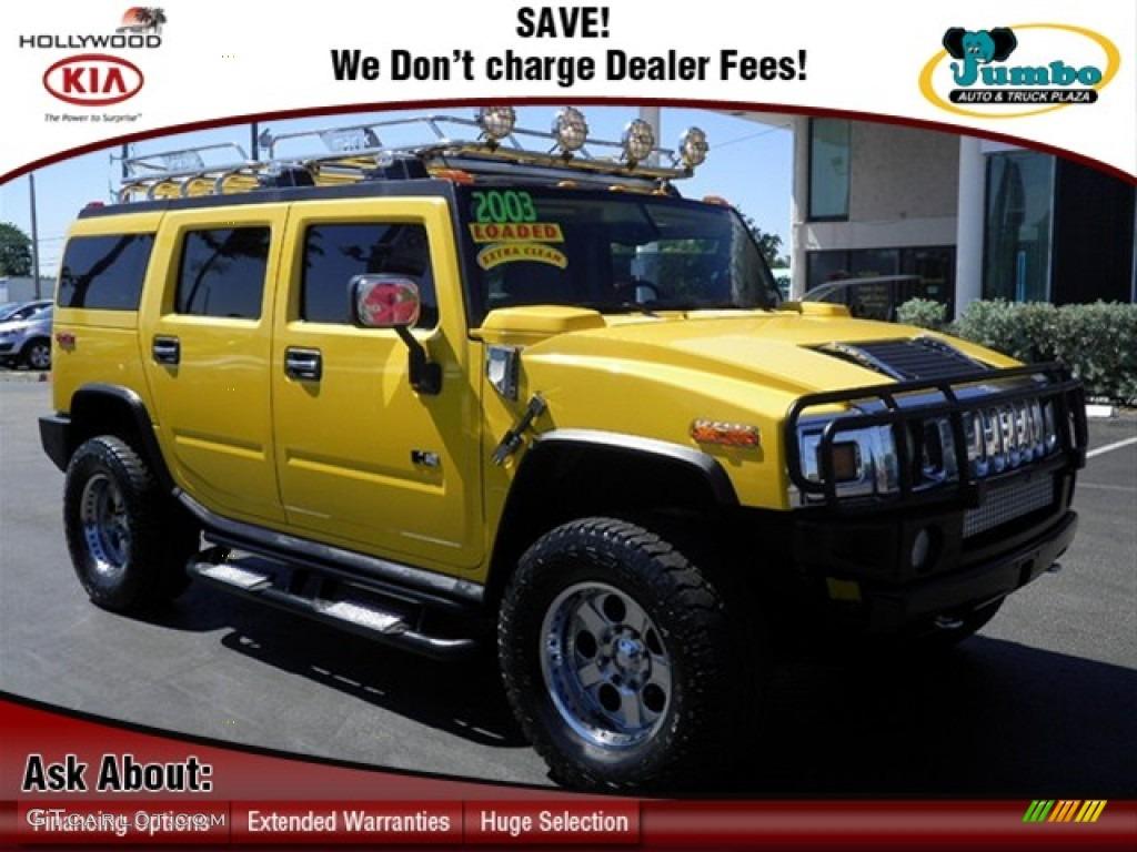 2003 H2 SUV - Yellow / Wheat photo #1