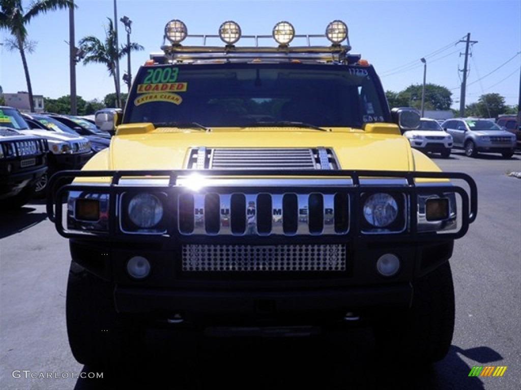 2003 H2 SUV - Yellow / Wheat photo #3