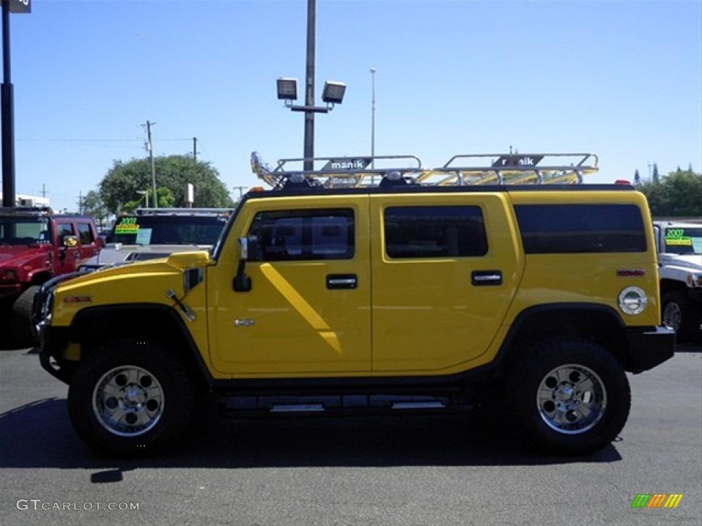 2003 H2 SUV - Yellow / Wheat photo #6