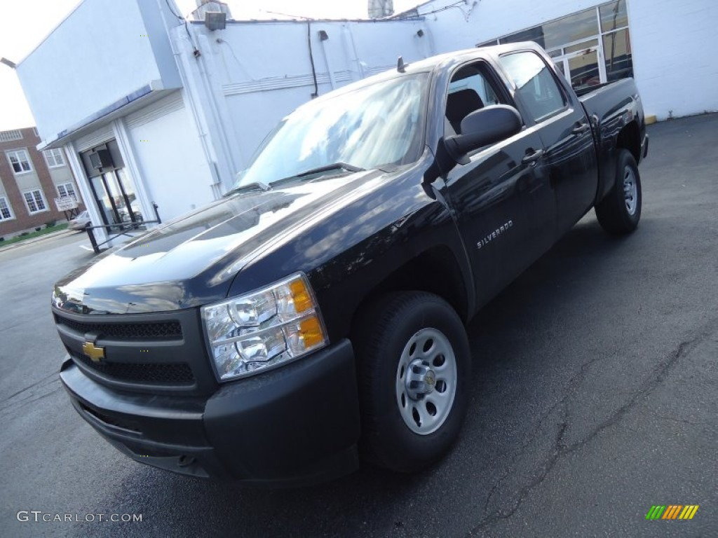 2012 Silverado 1500 Work Truck Crew Cab 4x4 - Black / Dark Titanium photo #1