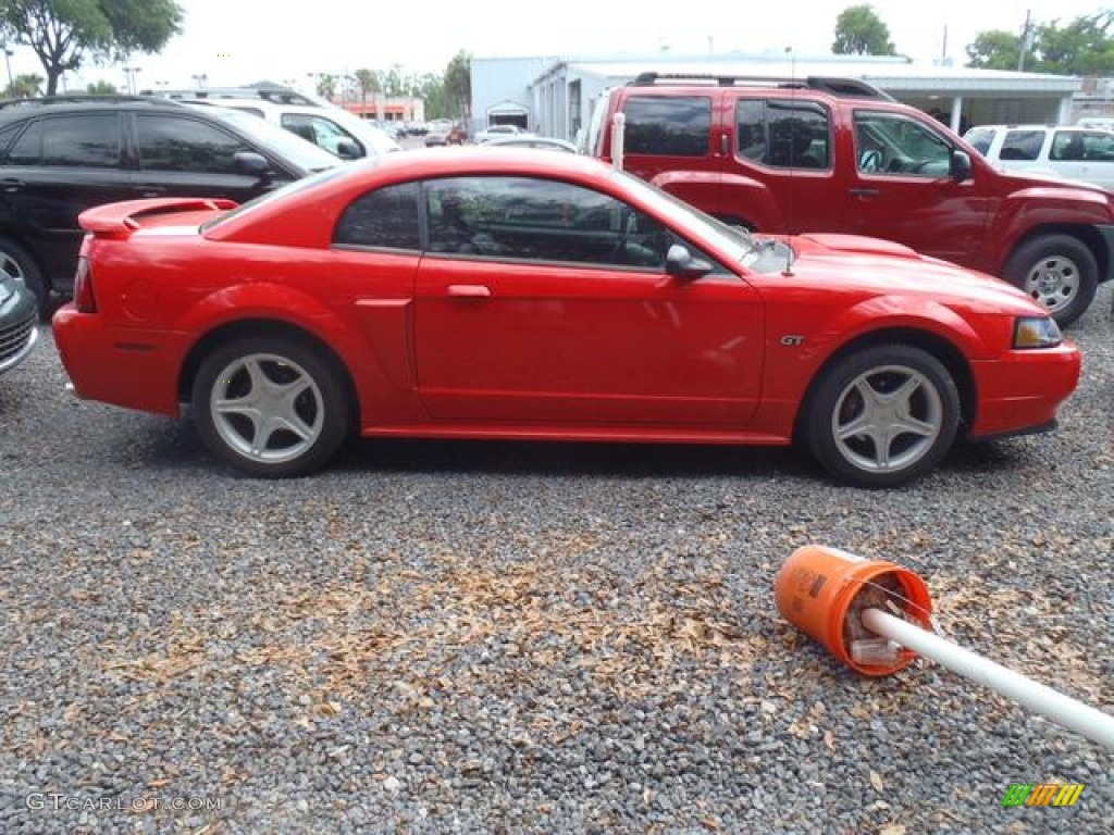 2001 Mustang GT Coupe - Performance Red / Medium Graphite photo #3