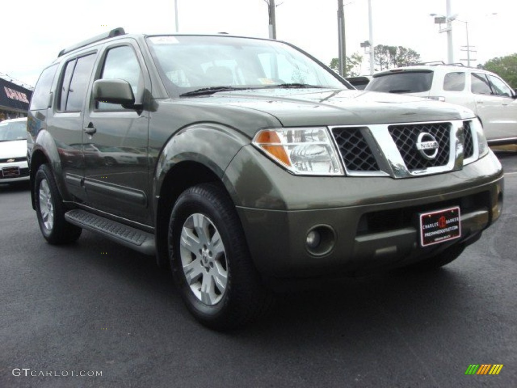 2005 canteen green metallic nissan pathfinder le 4x4. Black Bedroom Furniture Sets. Home Design Ideas