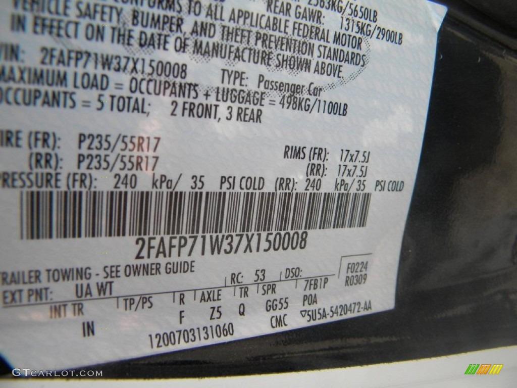 2007 Ford Crown Victoria Police Interceptor Color Code ...