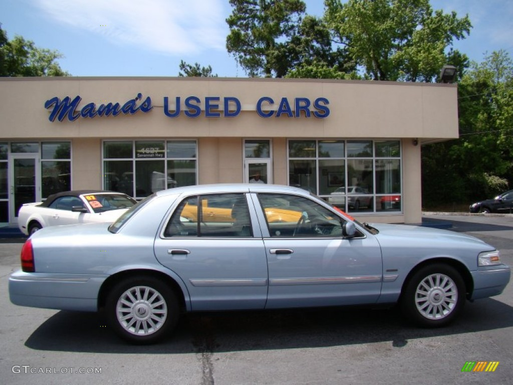 2011 Grand Marquis LS Ultimate Edition - Light Ice Blue Metallic / Light Camel photo #1