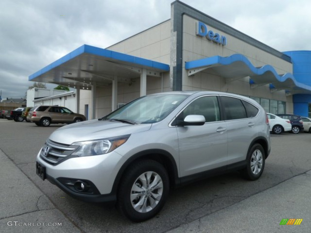 2012 CR-V EX - Alabaster Silver Metallic / Black photo #1