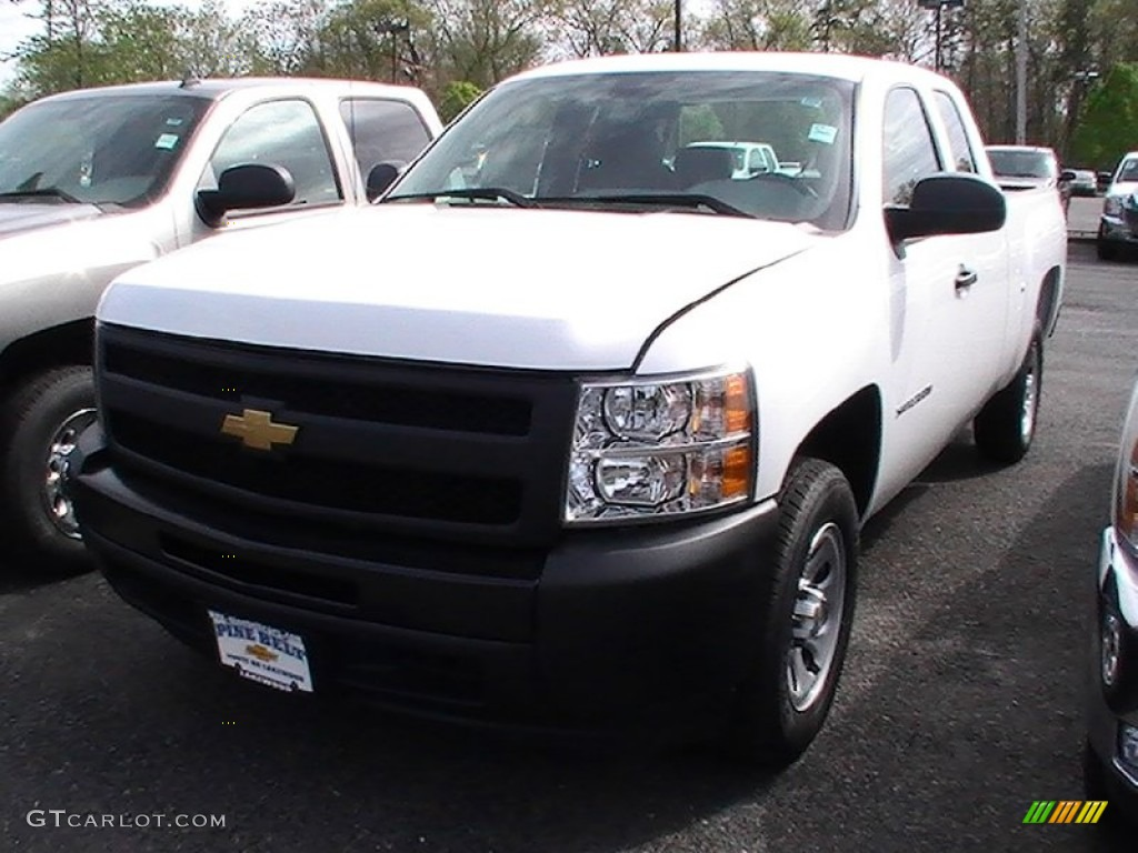 2012 Silverado 1500 Work Truck Extended Cab - Summit White / Dark Titanium photo #1