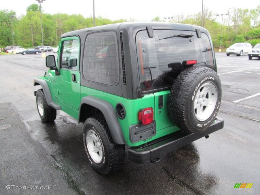 2004 electric lime green pearl jeep wrangler sport 4x4 64555202 photo 7 car. Black Bedroom Furniture Sets. Home Design Ideas