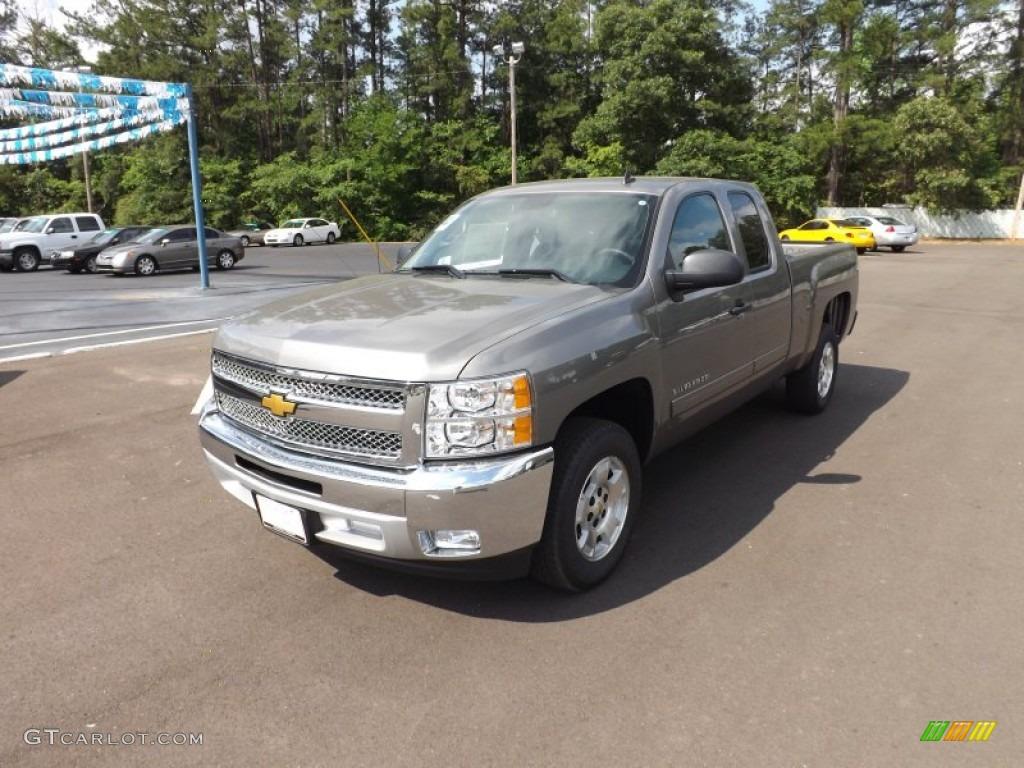 2012 Silverado 1500 LT Extended Cab - Graystone Metallic / Light Titanium/Dark Titanium photo #1