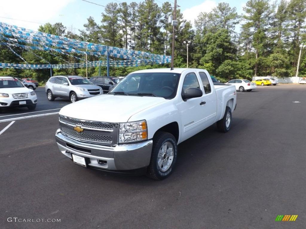 2012 Silverado 1500 LT Extended Cab 4x4 - Summit White / Ebony photo #1