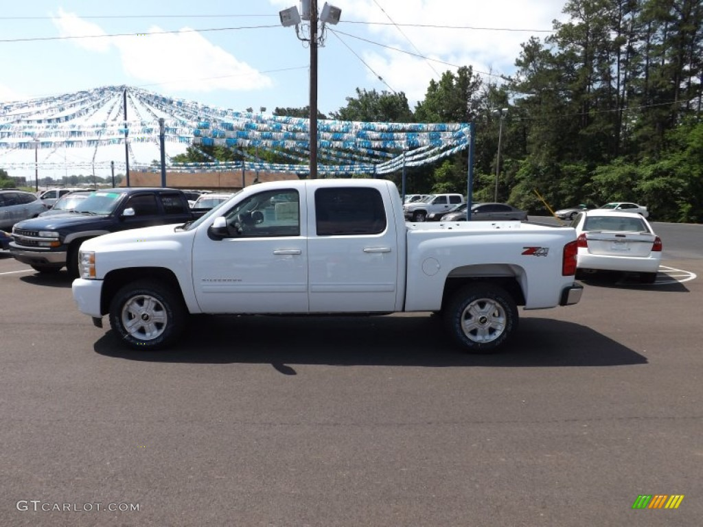 2012 Silverado 1500 LTZ Crew Cab 4x4 - Summit White / Light Cashmere/Dark Cashmere photo #2