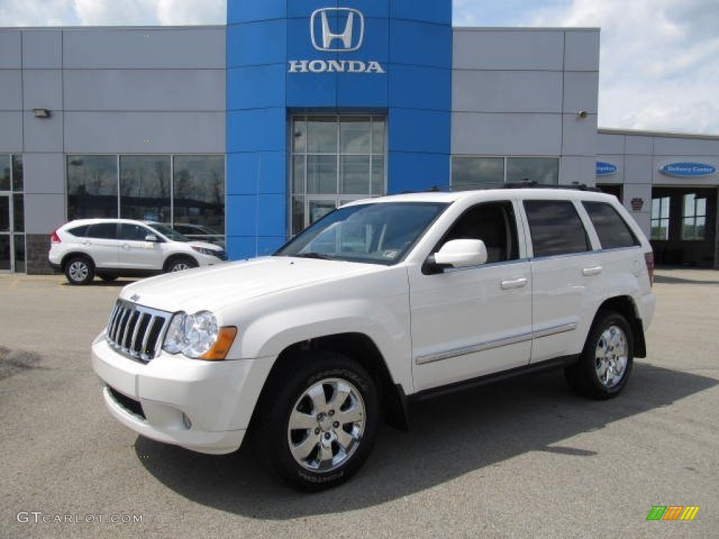 2008 stone white jeep grand cherokee limited 4x4 #64555072
