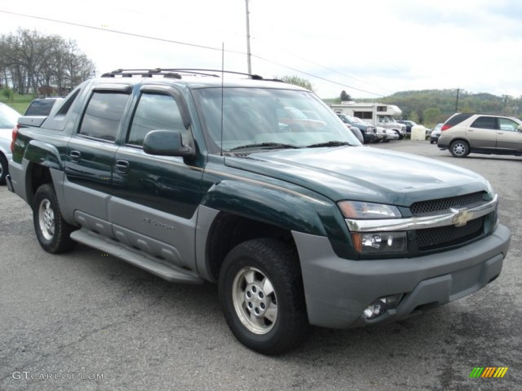2002 forest green metallic chevrolet avalanche 4wd 64554792 photo 2 car color. Black Bedroom Furniture Sets. Home Design Ideas