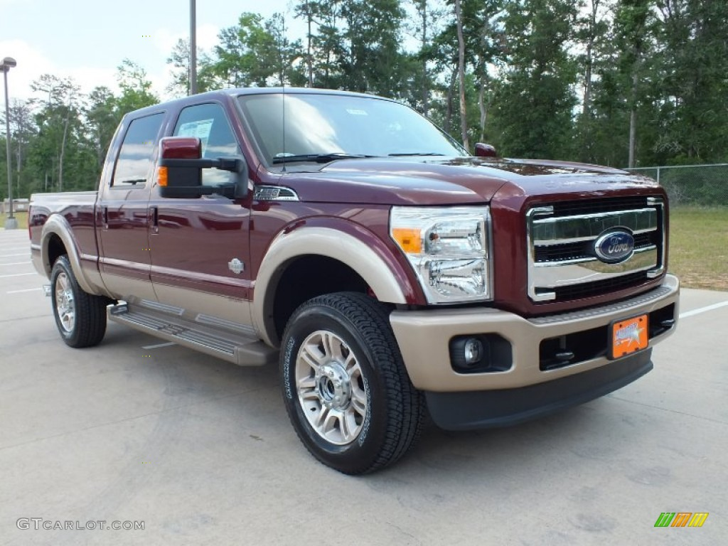 2012 F250 Super Duty King Ranch Crew Cab 4x4 - Autumn Red Metallic / Chaparral Leather photo #1