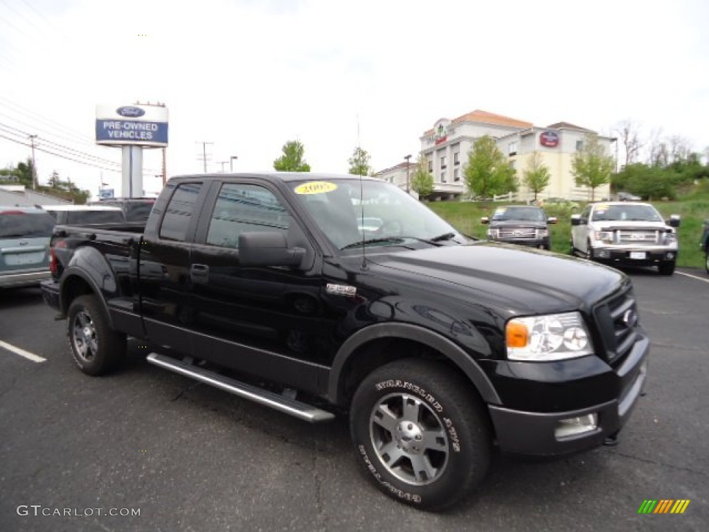2005 f150 fx4 supercab 4x4 black black photo 1