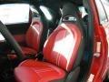 2012 500 Abarth Abarth Rosso Leather (Red) Interior