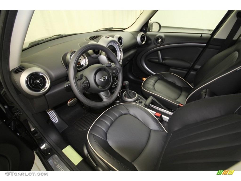 Carbon Black Lounge Leather Interior 2012 Mini Cooper S Countryman