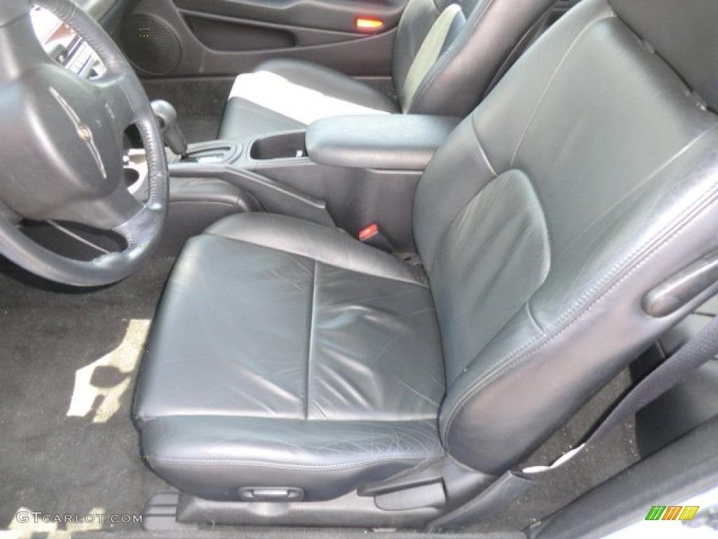 Dark Slate Gray Interior 2004 Chrysler Sebring Limited Coupe Photo 64634221